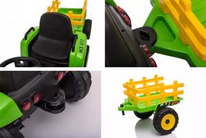 Tractoras electric BJ-611 60W cu remorca STANDARD #Verde6