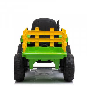 Tractoras electric BJ-611 cu remorca si telecomanda STANDARD #Verde3