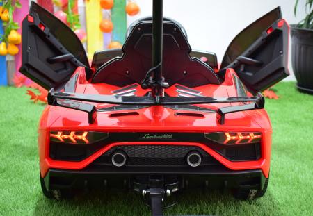 Masinuta electrica Lamborghini SVJ cu hoverboard, rosu [9]