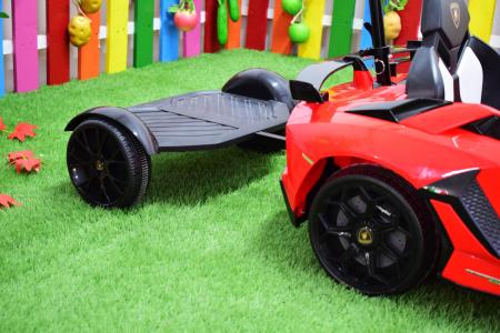 Masinuta electrica Lamborghini SVJ cu hoverboard, rosu [10]