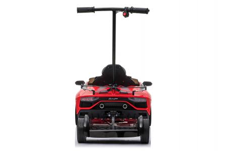 Masinuta electrica Lamborghini SVJ cu hoverboard, rosu [15]