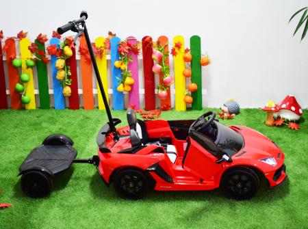 Masinuta electrica Lamborghini SVJ cu hoverboard, rosu [8]