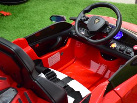 Masinuta electrica Lamborghini SVJ cu hoverboard, rosu [7]
