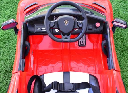 Masinuta electrica Lamborghini SVJ cu hoverboard, rosu [2]