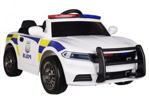 Masinuta electrica POLICE JC666 12V PREMIUM #Alb3