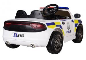 Masinuta electrica POLICE JC666 12V PREMIUM #Alb5