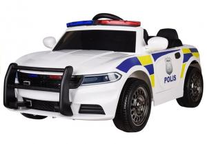 Masinuta electrica POLICE JC666 12V PREMIUM #Alb0