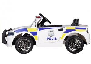 Masinuta electrica POLICE JC666 12V PREMIUM #Alb1