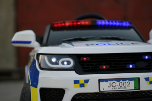 Masinuta electrica POLICE JC002 90W 12V PREMIUM #Alb [11]