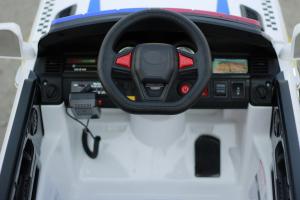 Masinuta electrica POLICE JC002 90W 12V PREMIUM #Alb [5]