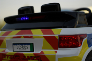 Masinuta electrica POLICE JC002 90W 12V PREMIUM #Alb [12]