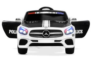 Masinuta electrica de politie Mercedes SL500 90W STANDARD #Alb5