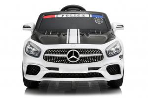 Masinuta electrica de politie Mercedes SL500 90W STANDARD #Alb6