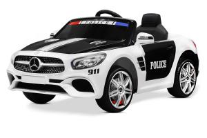 Masinuta electrica de politie Mercedes SL500 90W STANDARD #Alb0