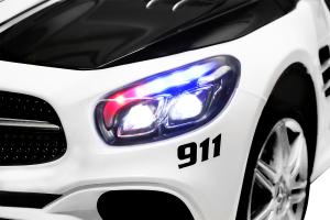 Masinuta electrica de politie Mercedes SL500 90W STANDARD #Alb1