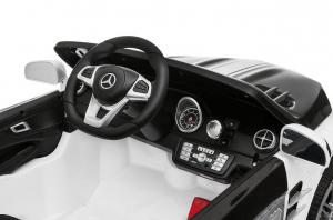 Masinuta electrica de politie Mercedes SL500 90W STANDARD #Alb4