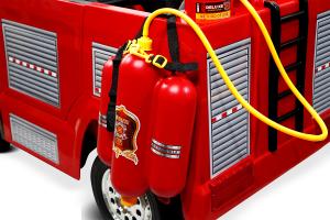 Masinuta electrica Pompieri Fire Truck Hollicy 90W 12V PREMIUM #Rosu [9]