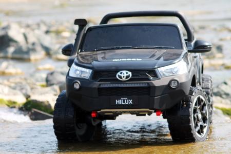 Masinuta electrica Toyota Hilux 4x4 180W 12V PREMIUM #Negru [1]