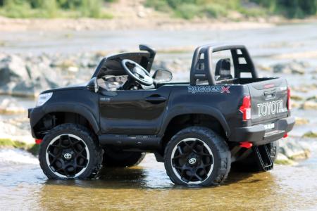 Masinuta electrica Toyota Hilux 4x4 180W 12V PREMIUM #Negru [2]