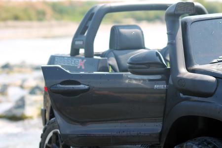 Masinuta electrica Toyota Hilux 4x4 180W 12V PREMIUM #Negru [5]