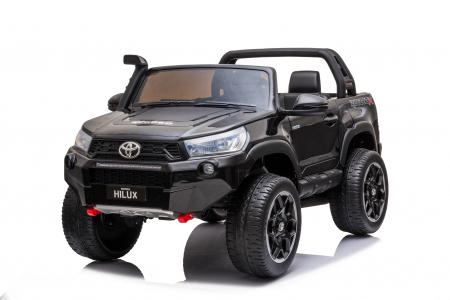 Masinuta electrica Toyota Hilux 4x4 180W 12V PREMIUM #Negru [0]