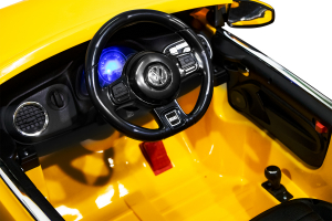 Masinuta electrica VW Beetle Dune Cabrio STANDARD #Galben9