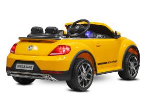 Masinuta electrica VW Beetle Dune Cabrio STANDARD #Galben4