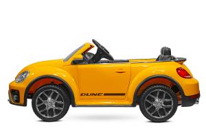 Masinuta electrica VW Beetle Dune Cabrio STANDARD #Galben3