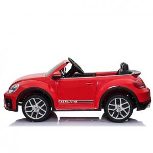 Masinuta electrica VW Beetle Dune Cabrio STANDARD #Rosu4