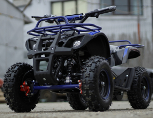 Mini ATV electric NITRO Torino Deluxe Quad 800W 36V #Albastru3