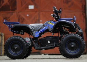 Mini ATV electric NITRO Torino Deluxe Quad 800W 36V #Albastru4