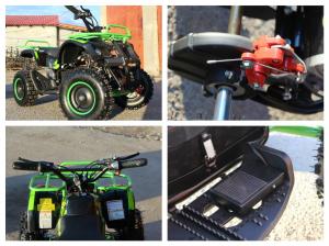 Mini ATV Electric Eco Torino Deluxe 1000W 48V cu 3 Trepte de Viteza #Verde8