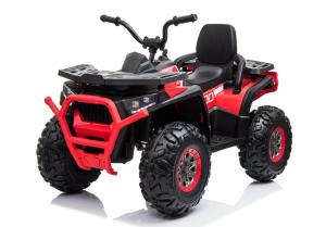 ATV electric pentru copii BJ607 12V 90W cu Scaun Tapitat #Rosu3
