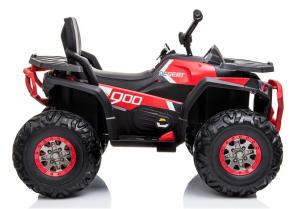 ATV electric pentru copii BJ607 12V 90W cu Scaun Tapitat #Rosu7