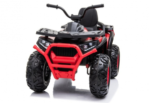 ATV electric pentru copii BJ607 12V 90W cu Scaun Tapitat #Rosu2