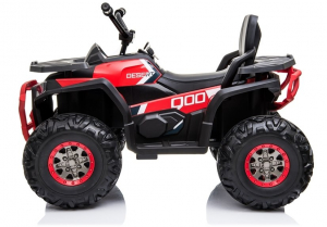 ATV electric pentru copii BJ607 12V 90W cu Scaun Tapitat #Rosu4