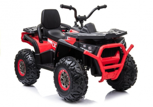 ATV electric pentru copii BJ607 12V 90W cu Scaun Tapitat #Rosu0