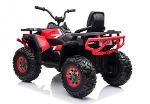ATV electric pentru copii BJ607 12V 90W cu Scaun Tapitat #Rosu5