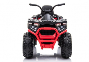 ATV electric pentru copii BJ607 12V 90W cu Scaun Tapitat #Rosu1