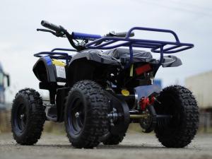 Mini ATV Electric Eco Torino Deluxe 1000W 48V cu 3 Trepte de Viteza #Albastru3