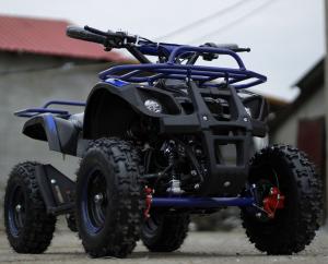 Mini ATV Electric Eco Torino Deluxe 1000W 48V cu 3 Trepte de Viteza #Albastru1