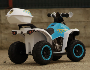 Mini ATV electric Police Quad YSA021A STANDARD #Alb [5]