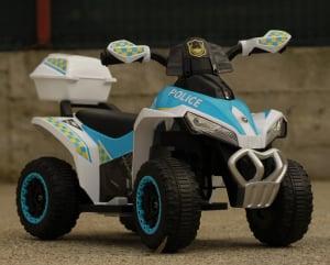 Mini ATV electric Police Quad YSA021A STANDARD #Alb [3]