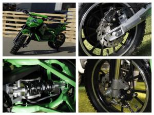 Mini motocicleta electrica NITRO Eco Serval 500W 10/10 #Verde4