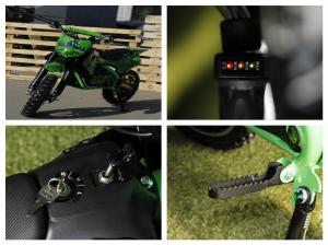 Mini motocicleta electrica NITRO Eco Serval 500W 10/10 #Verde3