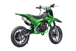 Mini motocicleta electrica NITRO Eco Serval 500W 10/10 #Verde0