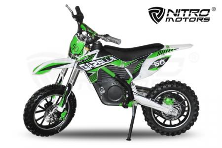 Motocicleta electrica pentru copii Eco Gazelle 500W 24V #Verde [0]