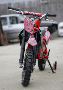 Mini motocicleta electrica NITRO Eco Serval 500W 10/10 #Rosu5