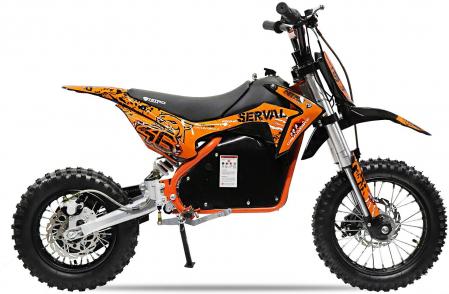 Mini motocicleta electrica NITRO Eco Serval 500W 10/10 #Portocaliu2