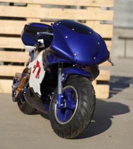 Mini Motocicleta electrica pentru copii NITRO Eco Pocket Bike 1000W #Albastru1